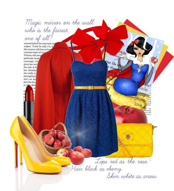 "diy snow white costume pinterest | DIY costume Snow White"" by jelenapetrosanec liked on ... | My ..."
