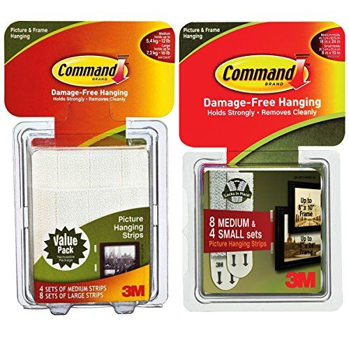 Command 3M 24ct Picture  Frame Hanging Strip Sets Small Medium Large Bulk Value Pack -- You can find out more details at the link of the image. This is Amazon affiliate link.