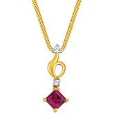 G Divas 18KT Yellow Gold Pendant with 0.46CT Diamonds - GIP00051