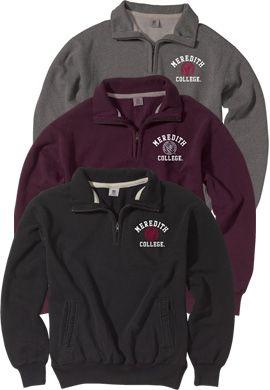 Product: Meredith College 1/4 Zip Pullover Sweatshirt