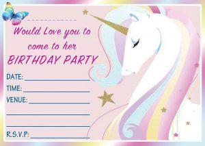 Rainbow Unicorn Birthday Invitations Kid And Home Stuff