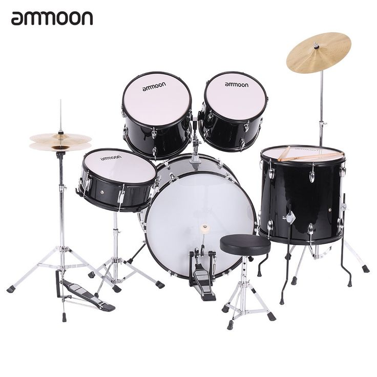 ammoon 5-Piece Complete Adult Drum Set Drums Kit Percussion Musical Instrument with Cymbals Drumsticks Stands Adjustable Stool  sc 1 st  Pinterest & Best 25+ Online drum set ideas on Pinterest | Drum online Used ... islam-shia.org