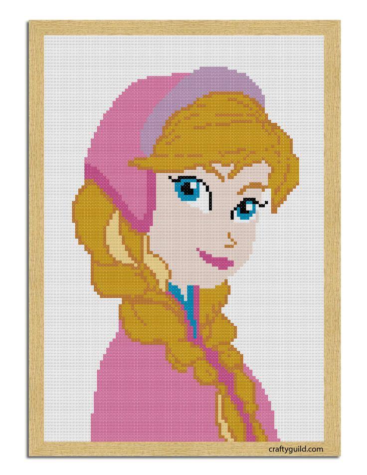 Princess Anna Free Cross Stitch Pattern