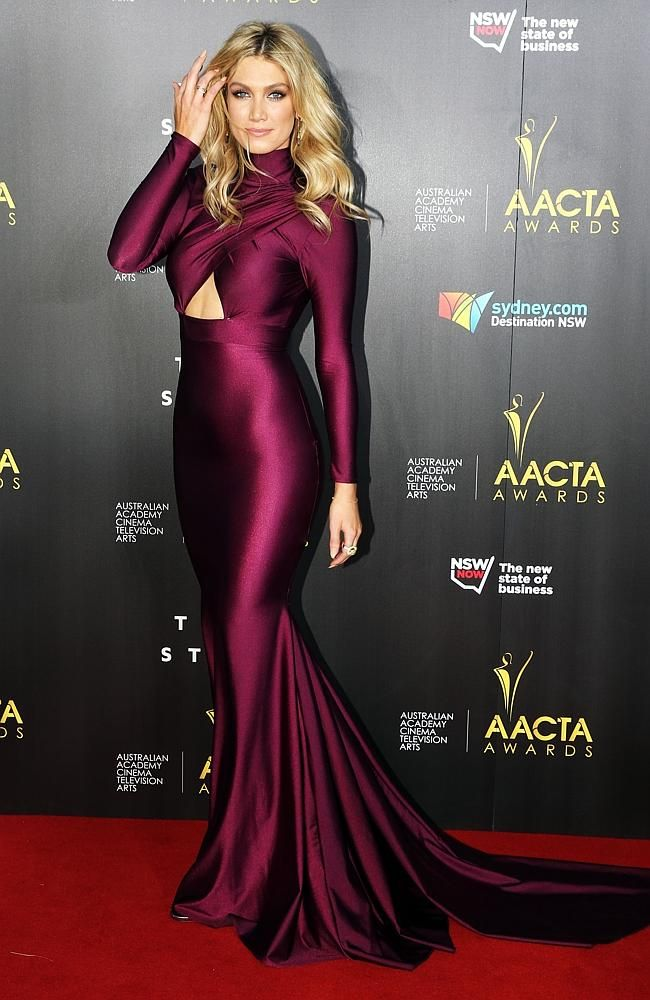 Delta Goodrem on the AACTA Awards 2014 red carpet. Picture: Craig Greenhill