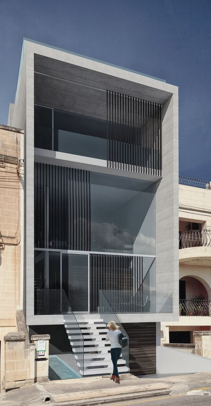 Project to demolish and reconstruct an existing terrace house , St  Julian's, 2014 - Architrend