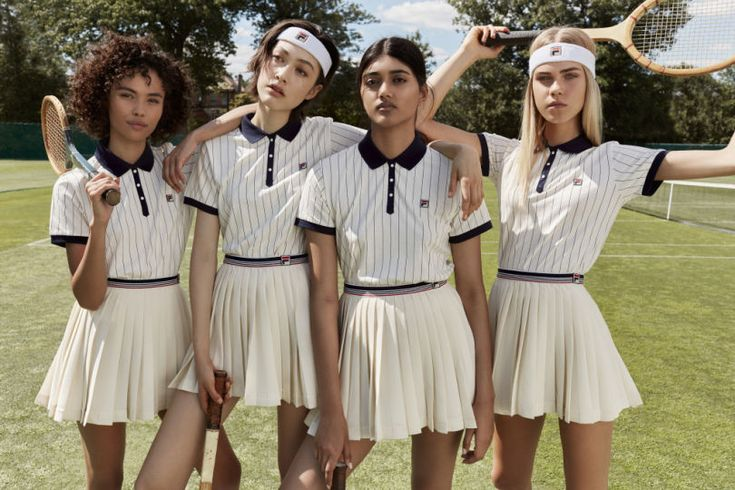 Looks from Fila's exclusive women's collection for Urban Outfitters.