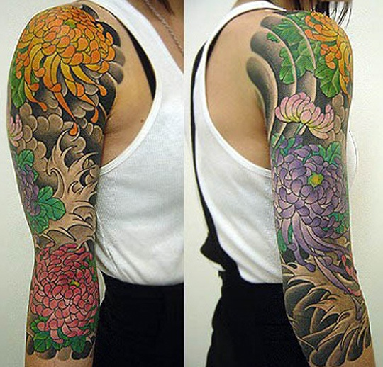 Japanese sleeve tattoo by Adam Kitamoto