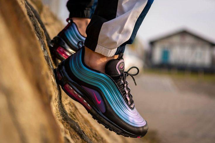 Nike Air Max 97 Black Laser - Grailify Sneaker Releases   Nike air ...