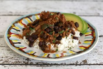 This tasty black beans and rice recipe is satisfying enough by itself for a meal, or appropriate for a side dish to a tasty Mexican feast.