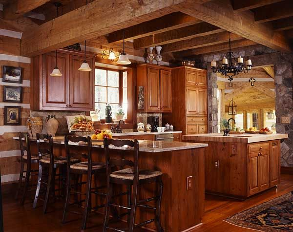 An efficiently designed contemporary kitchen that fits for Kitchen ideas for log homes