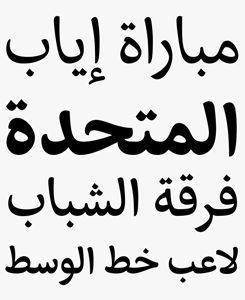 Eskorte Arabic font sample