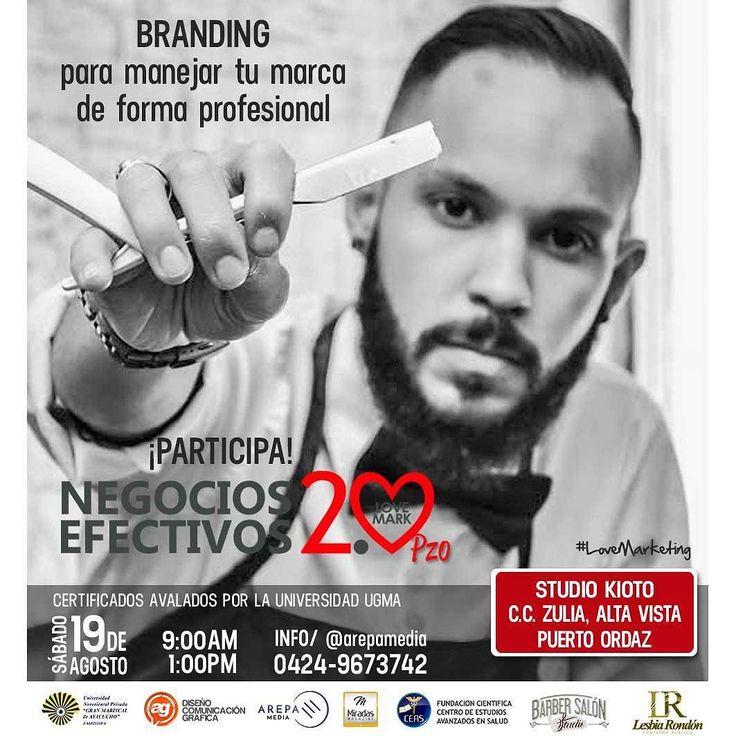 19 de agosto - #PuertoOrdaz  Te daremos nuevas estrategias de marketing manejo de imagen neuroventas y neuromarketing para que logres hacer tu marca más competitiva y productiva.  Certificado por la UGMA.  Info/ @arepamedia (direct) o al 0424.967.3742  #NegociosEfectivos20 #Marketing #LoveMark #LoveMarketing #ArepaMedia #MarketingDigital #Marketing #Pzo #PuertoOrdaz #AgDiseno #MiradasMagazine.  @ag_diseno @bmar30 @artgenis1 @Negocios_Efectivos20 @miradasmagazine @barbersalon_studio…
