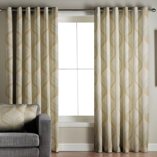 Cyrus Lined Eyelet Curtains Green 90x90 By Ideal Textiles Living Room