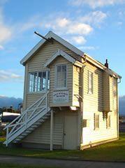 Sale, Victoria, Australia. Railway signal box.