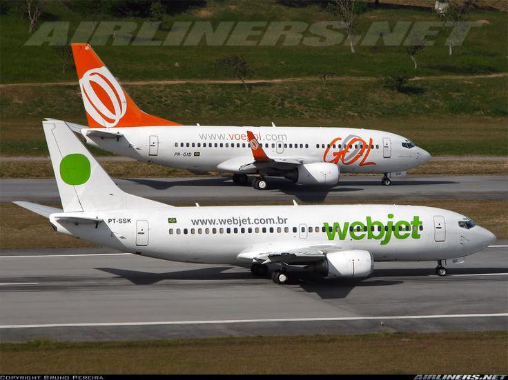 Boeing 737-3 e Boeing 737-NG | Webjet e Gol | Belo Horizonte (Pampulha) | 16/03/2007