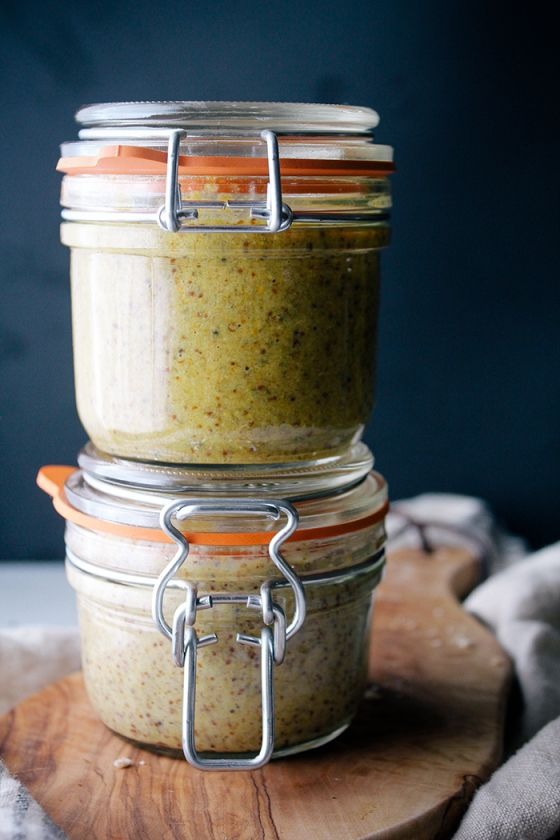 homemade mustards: honey curry & beer thyme