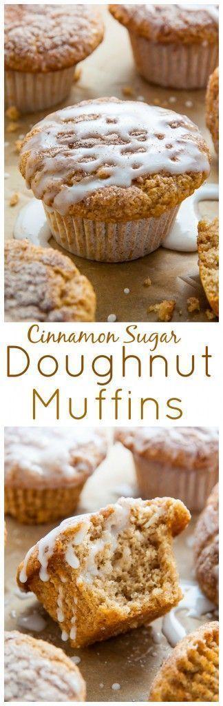 Fluffy Cinnamon Sugar Muffins pretending to be doughnuts! This easy, vegan recipe is perfect for breakfast, snack, or dessert. #vegan