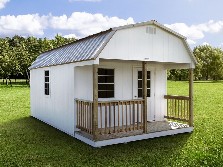 Our porch packages add so much value and charm to our cabin sheds, and The Jackson is one of our new models! View our inventory, or design your own. Nationwide delivery - order today!