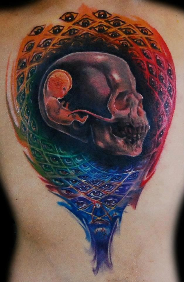 Face of Insane's Alex Grey Tattoo.