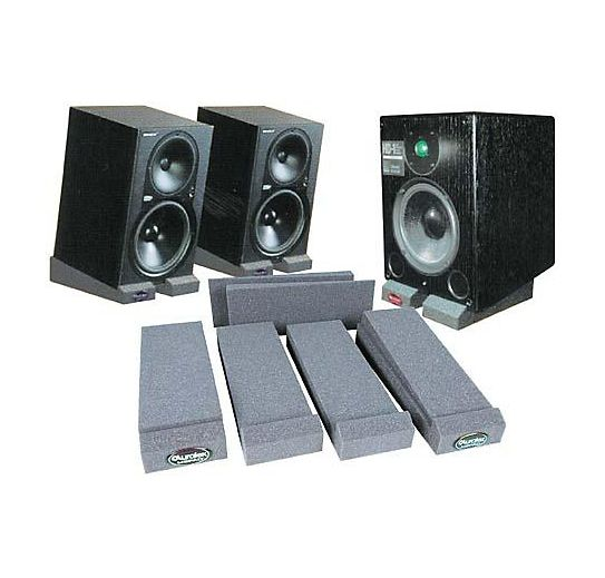 Everything you need right here! http://www.guitarcenter.com/Auralex/MoPad-Monitor-Isolation-Pads-1273887989283.gc