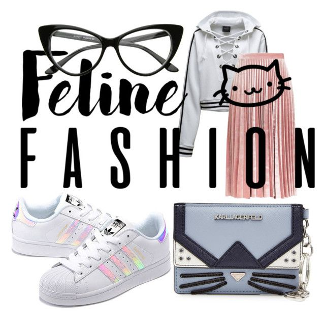"""""""Feline Fashion"""" by roxana97 on Polyvore featuring Puma, Topshop, adidas Originals and Karl Lagerfeld"""
