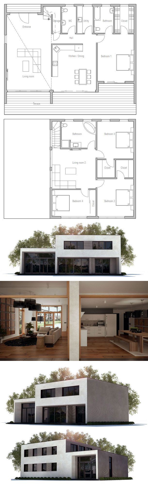 les 25 meilleures id es de la cat gorie plan maison etage. Black Bedroom Furniture Sets. Home Design Ideas