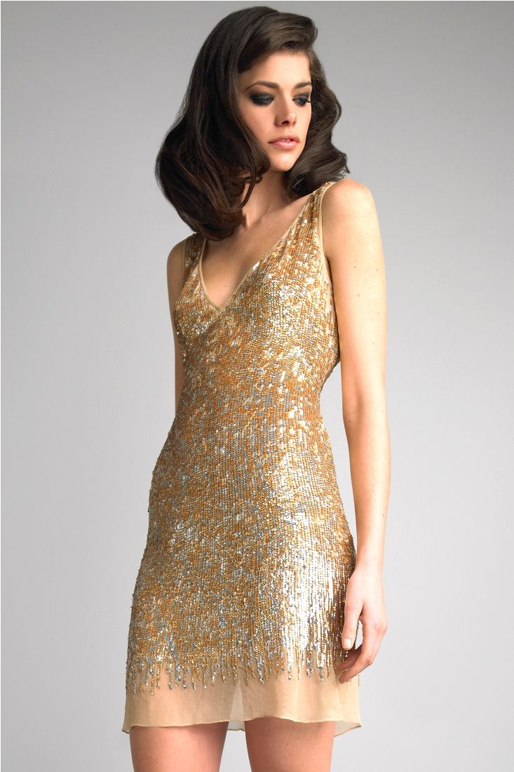 Short-Gold-Cocktail-Dress