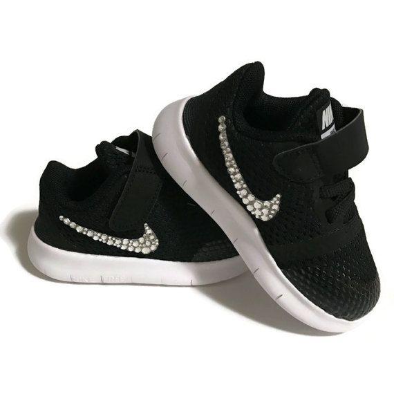 Nike shoes  toddler Nikes  baby Nikes  Free RN  bling