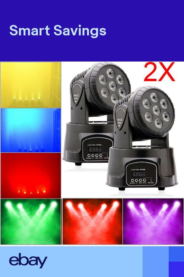 2x 70W RGBW LED Beam Moving Head Stage Lighting DMX512 DJ Disco Club Party Light