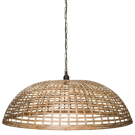 Dome Basket Ceiling Pendant Bamboo 249 80x26h Lighting