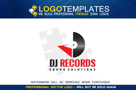 DJ Logo Design  Vector DJ logo  One of a kind by Logotemplates