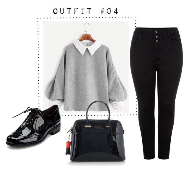 """""""Outfit #04"""" by caroluemura on Polyvore featuring moda, Clarks, Paul's Boutique e New Look"""