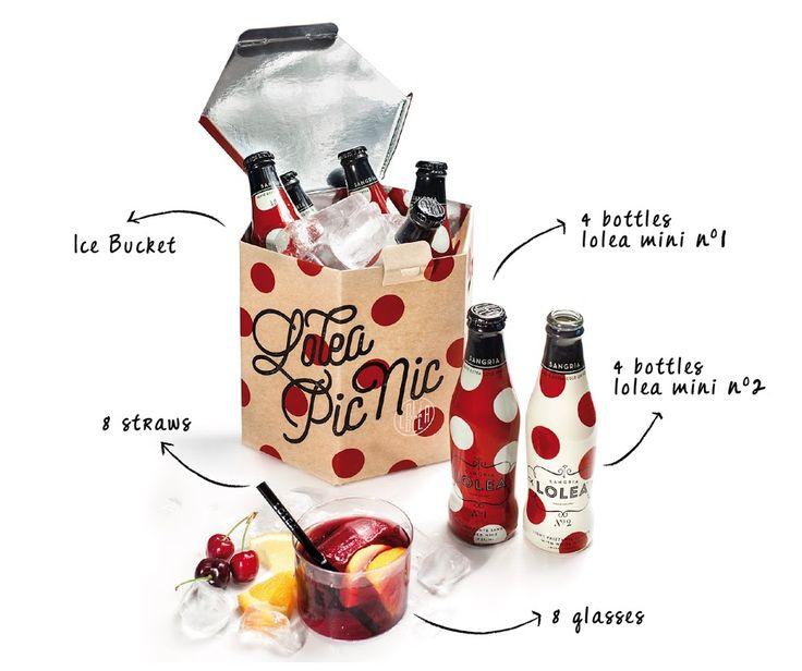 Een limited edition van het Spaanse Lolea, waarbij de verpakking ook als koeler dient. Gevuld met 8 kleine Lolea's, 8 kunstof glazen en rietjes.