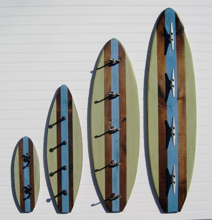 Surf Board Towel Bars For The Kids Bathroom   Like The Boat Tie Hooks