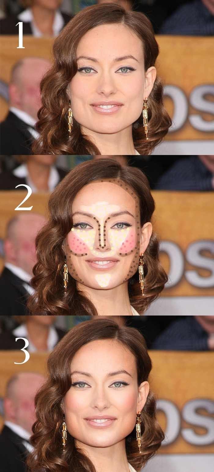 Maquillaje para cara cuadrada