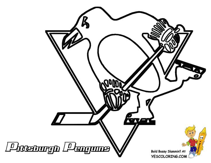 Pittsburgh penguins hockey coloring page all the nhl for Pittsburgh penguins coloring pages