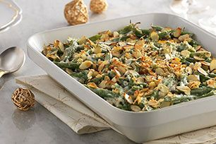 Up your casserole game with our Green Bean Casserole with Mushrooms! French fried onions add crunch to this delicious Green Bean Casserole with Mushrooms.