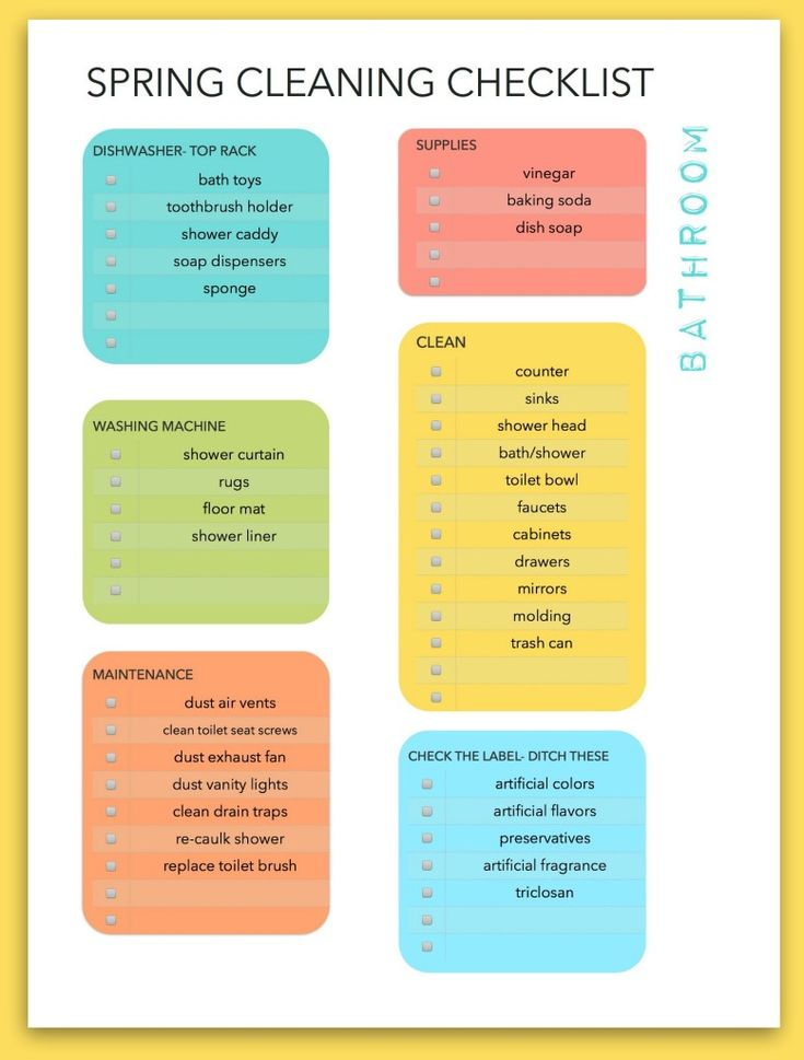 Spring Cleaning Spring Cleaning Checklist And Cleaning