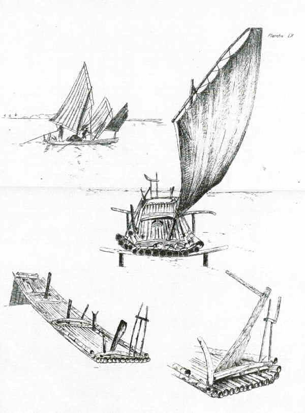 Image result for chinese sailing raft