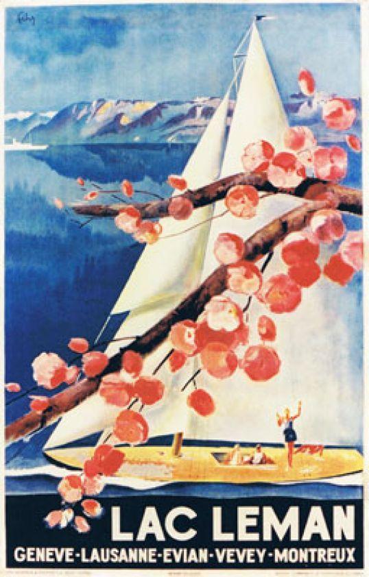 Henry Fehr 1938 Lac Léman Genève Lausanne Evian Vevey Montreux