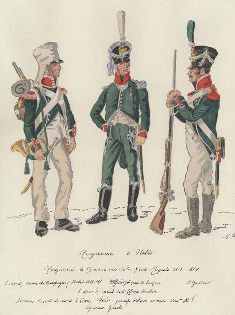 Cornetta, ufficiale e cacciatore dei cacciatori della guardia reale