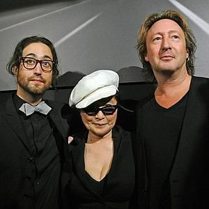 Sean Lennon Yoko Ono And Julian Attend The Timeless Photography Exhibition Opening Party At Morrison Hotel