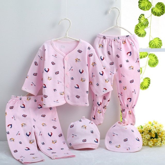 Newborn baby clothing sets baby girls boys clothes Hot new Brand baby gift infant cotton Cartoon underwear (5pcs/set) (7pcs/set)
