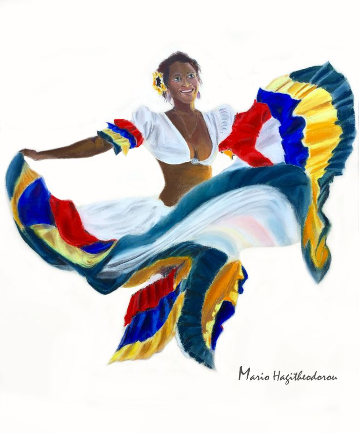 Sega dancer, mauritius island