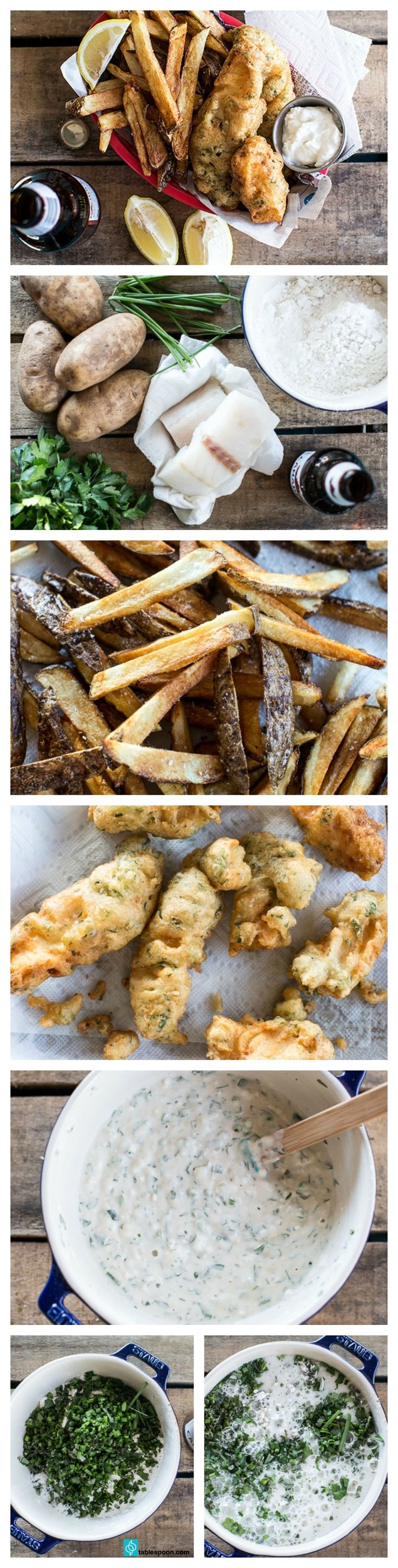 Easy herb battered fish and chips recipe chips fried for Low carb fish batter