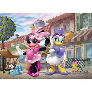Minnie egér és Daisy kacsa faltapéta (160 x 115 cm)