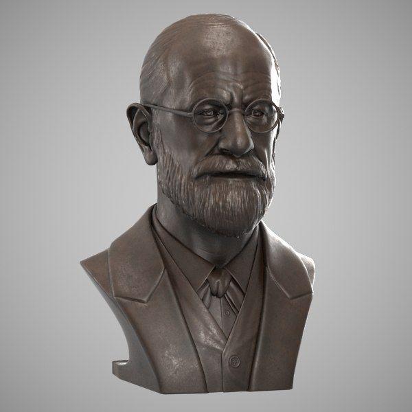 Decorative Bust Sigmund Freud 3d Max Bust Freud Sigmund Freud