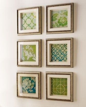 Easy do-it-yourself project and cute for a hallway or living room - all depending the size.