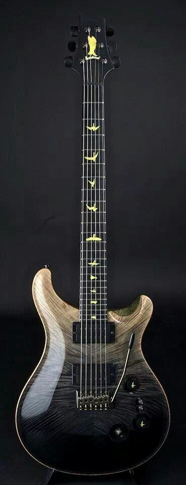 PRS Guitars Private Stock in Black Frostbite Fade with a feathered maple top