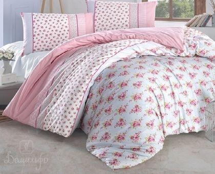 Купить постельное белье RANFORCE AHSEN розовое 50х70 евро от производителя Altinbasak (Турция)